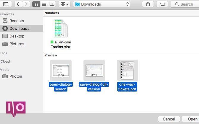 sélectionner plusieurs fichiers