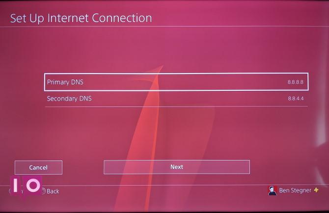 Paramètres DNS PS4