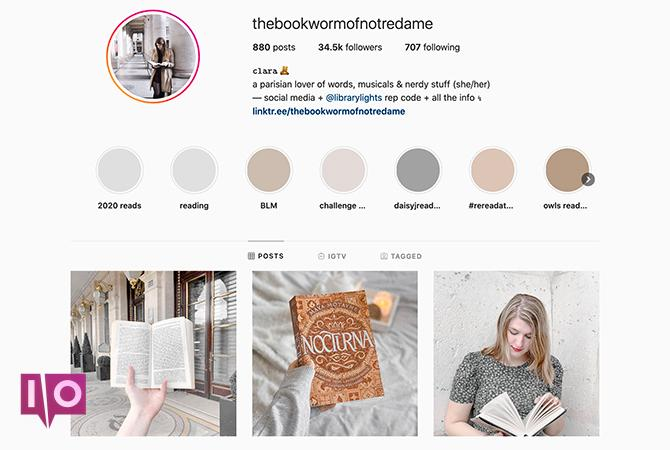 Thèmes Instagram légers thebookwormofnotredame