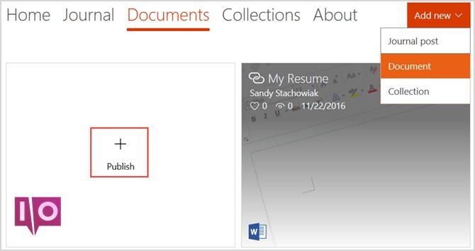 docs.com ajouter un nouveau document