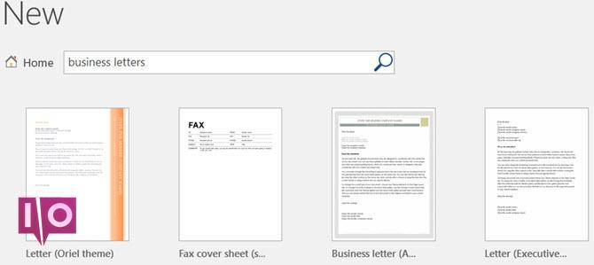 Recherche de lettres commerciales