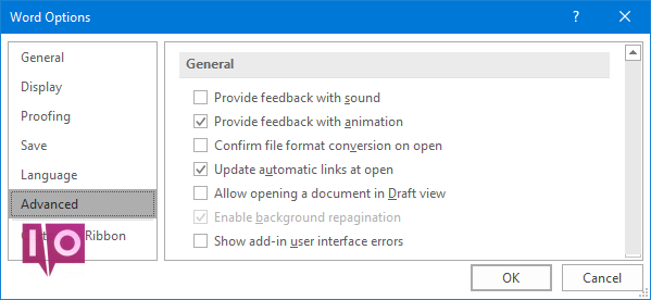 Microsoft Word - Options