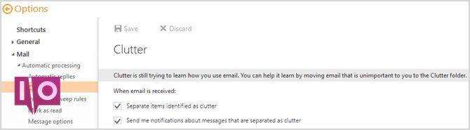 Nouveau Outlook.com - Clutter
