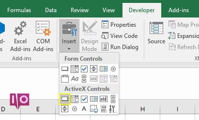 Bouton de commande ActiveX