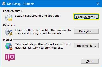 Configurer des comptes de messagerie dans l'application de messagerie