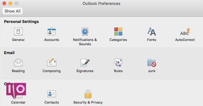 Préférences Outlook Mac