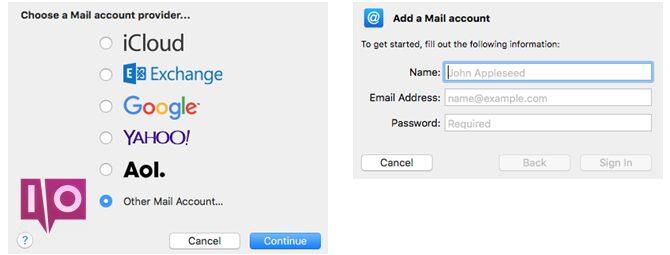 Configuration d'Outlook Mac Mail