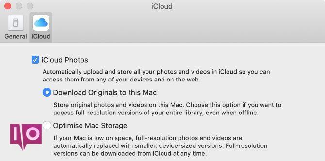 Télécharger les originaux sur cette option Mac dans Photos