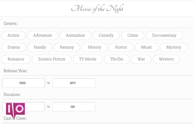 site de recommandation de films le plus simple movieofthenight