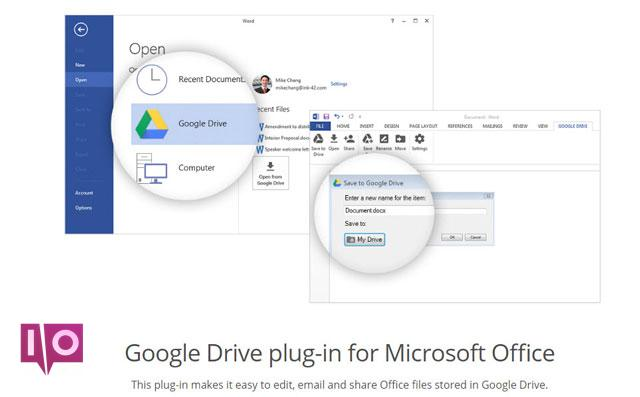 Plug-in Google Drive pour Office 2016