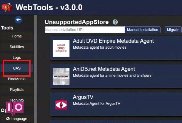 module appstore plex non pris en charge dans les outils Web