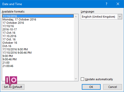 Microsoft Word - Date et heure