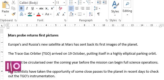 Microsoft Word compare les documents d'origine