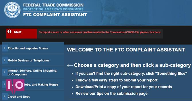 Formulaire de plainte FTC
