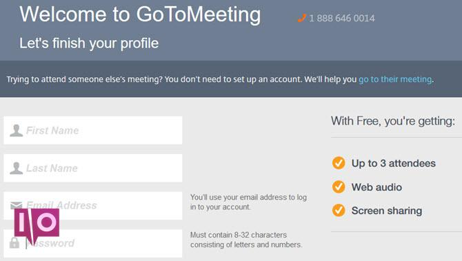 GoToMeeting - Inscription