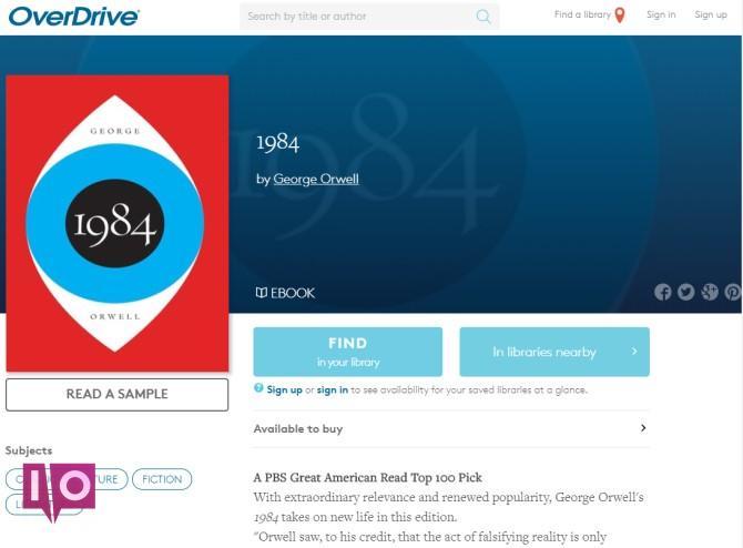 OverDrive Meilleurs sites Kindle