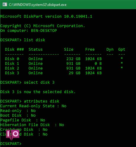 Diskpart Windows
