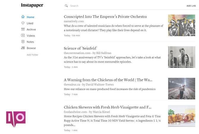 Meilleurs sites Kindle Instapaper