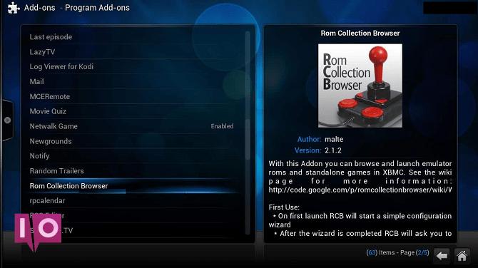 installer le navigateur de collection rom kodi