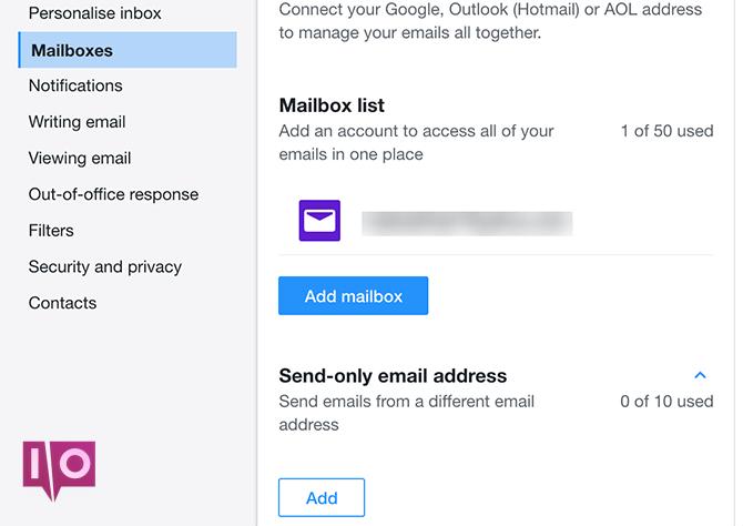 ajouter envoyer uniquement un e-mail à yahoo