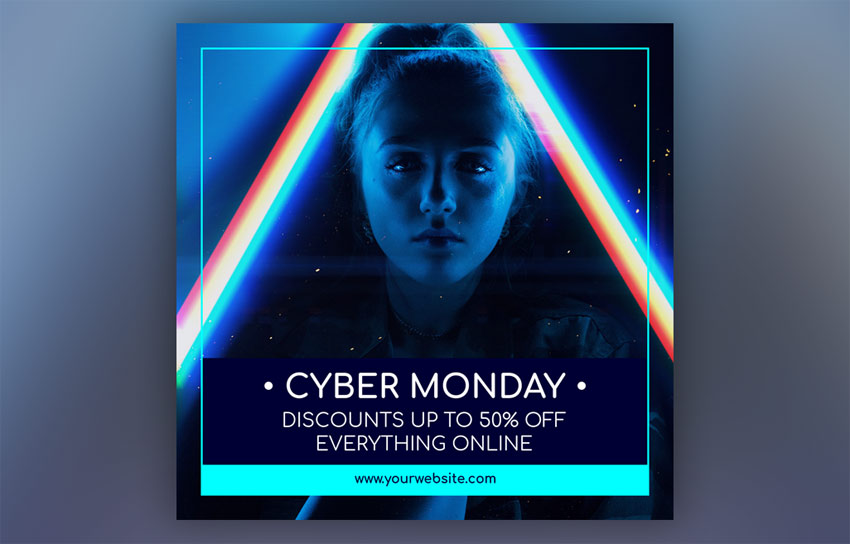 Modèle de publication Instagram Cyber ​​Monday