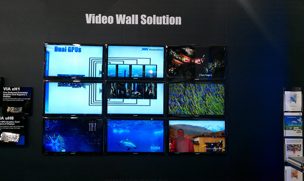 systèmes de murs vidéo