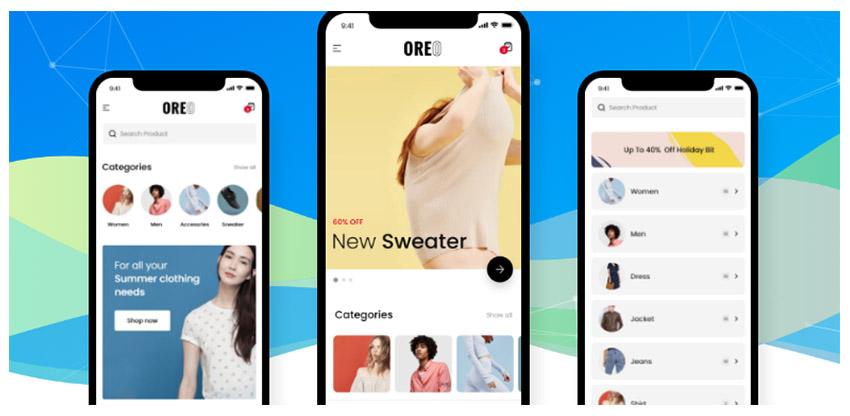 Oreo Fashion Full React Native App pour WooCommerce