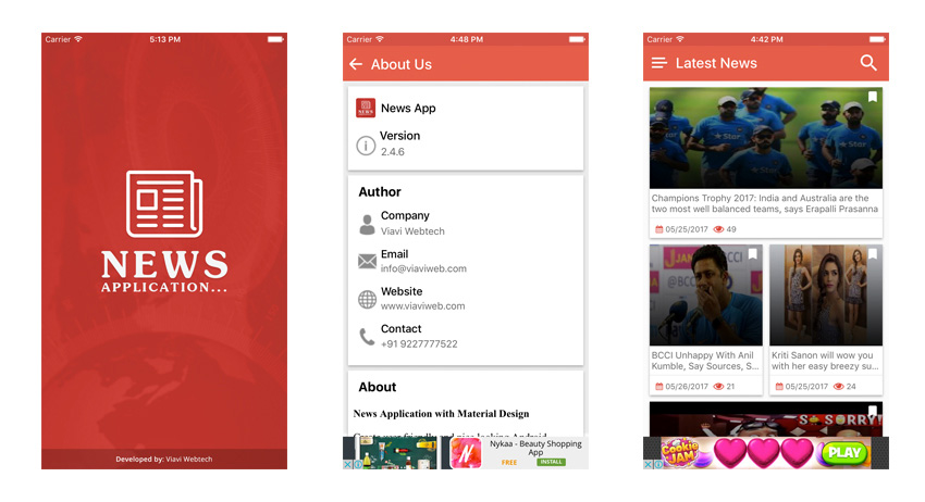 Application d'actualités iOS