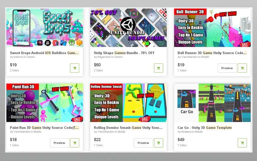 Modèles de jeux iOS