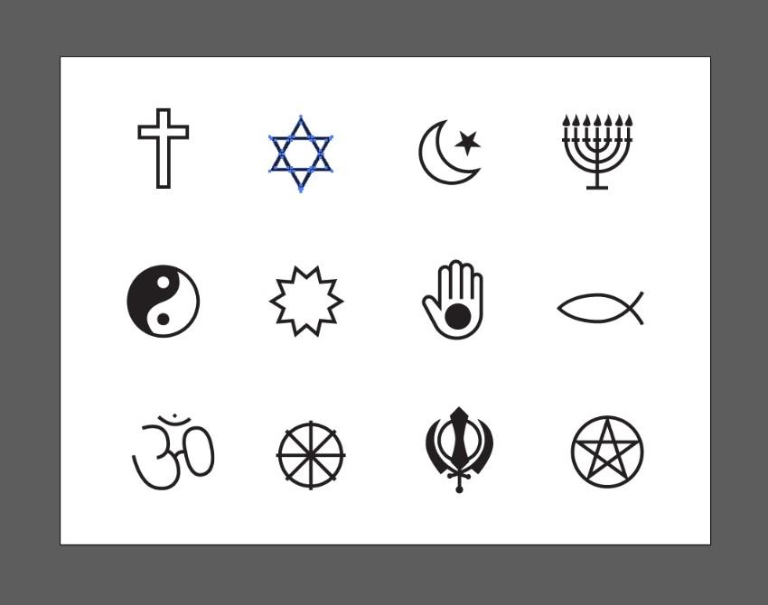 symboles vectoriels