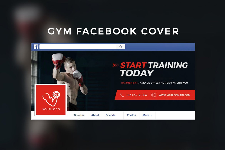 Couverture Facebook de gym