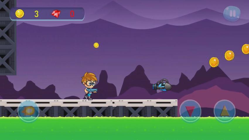 Gameplay Shoot and Run