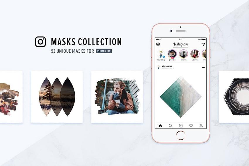 Collection de masques Instagram