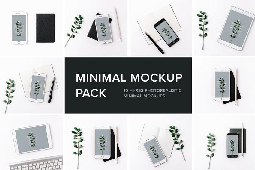Pack de maquette minimal photoréaliste