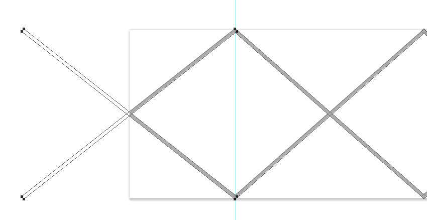 Ajoutez les lignes sur le côté gauche