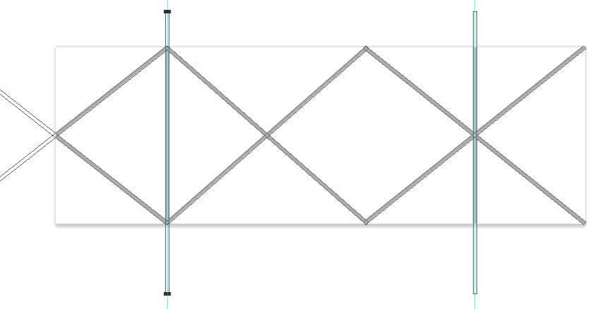 copier la ligne verticale