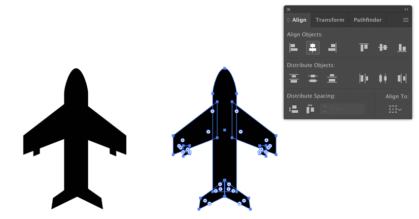 Aligner des objets dans Adobe Illustrator