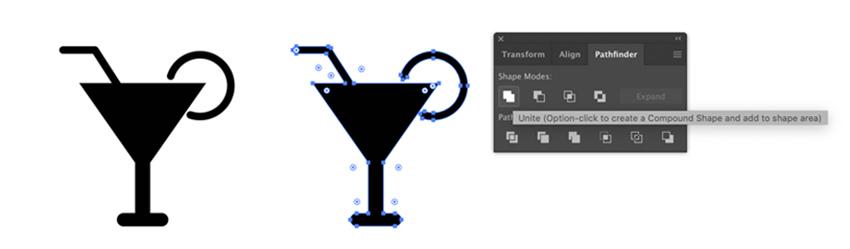 Icône de boisson dans Adobe illustrator