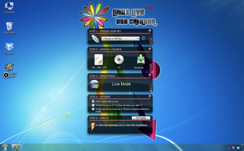 Vous allez avoir besoin d'un programme de graveur ISO tel que Linux Live USB Creator