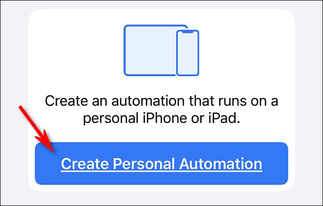 """Appuyez sur """"Créer une automatisation personnelle""""."""