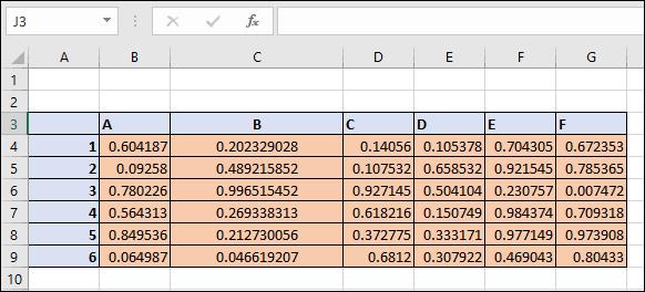 Une colonne de tableau dans Microsoft Excel avec des bordures de cellule en retrait