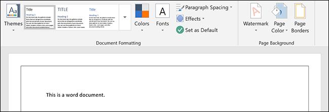 Une bordure de page appliquée à un document Microsoft Word