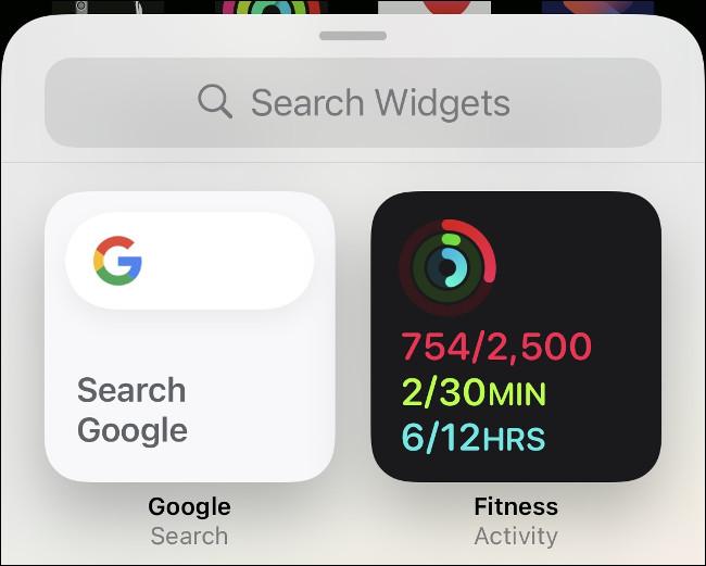 Ajouter un widget d'activité à l'iPhone