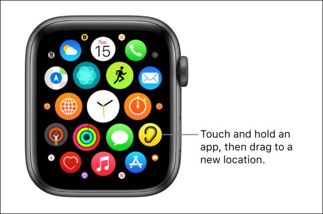 Mode tremblement de l'Apple Watch