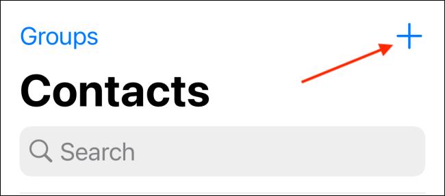 Tippen Sie auf der Registerkarte Kontakte auf die Schaltfläche Mehr
