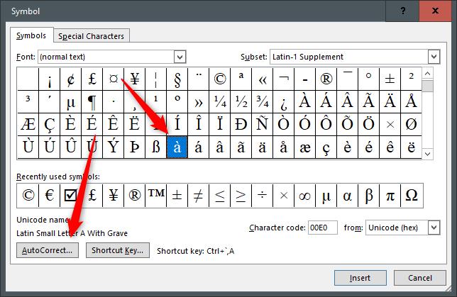 Fonction de correction automatique