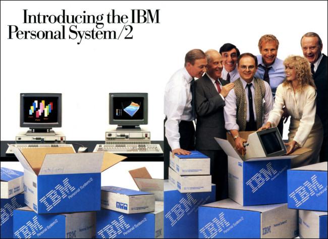 Eine Anzeige für IBM OS / 2 in einer Zeitschrift.