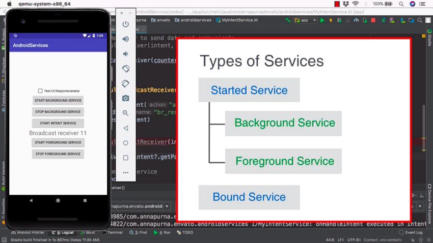Services Android de Kotlin