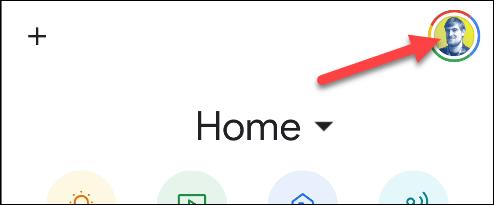 paramètres dans l'application Google Home