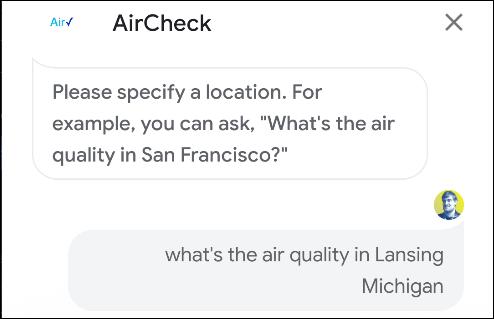 action aircheck de l'assistant google